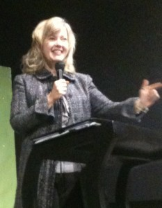 Rhonda speaking in Juarez